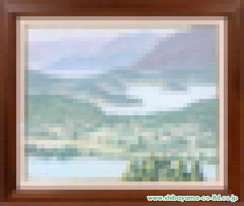 内田如風「湖の島Ⅱ(バリロチエ、アンデス・アルゼンチン)」s