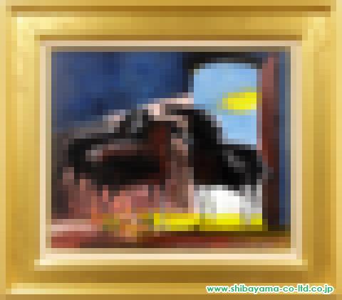 ポール・ギヤマン「三頭の馬」s油彩