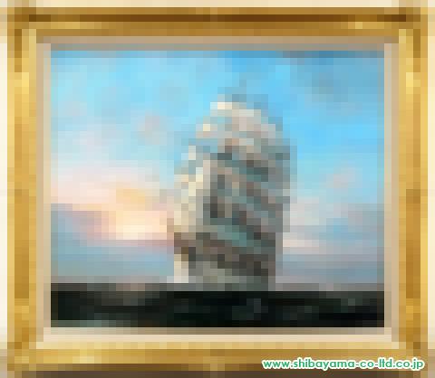 鈴木政輝「旅立ちの海」s油彩