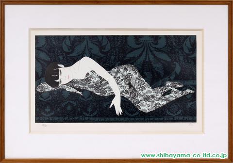 加山又造「レースの裸婦②」sリトグラフ