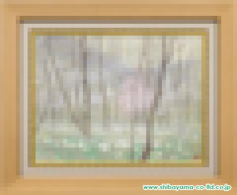 倉島重友「霧の森」P10号s日本画
