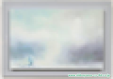 永井夏夕「山の上から月を見る」s日本画