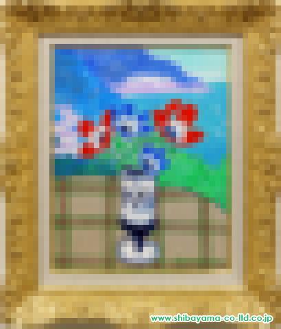 坂口紀良「アマルフィ海岸を望むアネモネのテラス」s油彩6号