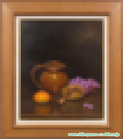 五味悌四郎「秋の静物(フランス壺)」s油彩8号
