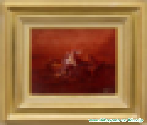 麻田浩「赤土の塊と物」s油彩3号