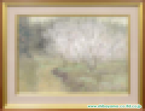 倉島重友「早春の径」sP30号日本画