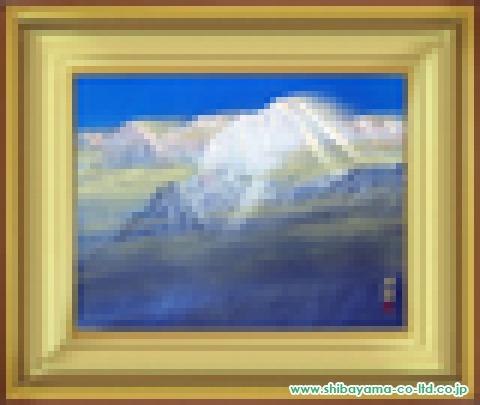 福王寺法林「ヒマラヤの朝」日本画10号