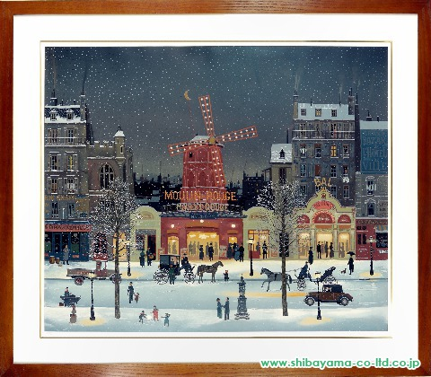 ドラクロワ「雪のムーランルージュ」ぼかしリトグラフHC25