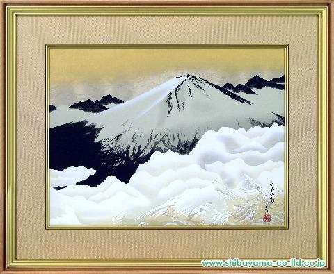 横山大観「正気放光」木版画