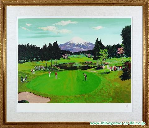 マーク・キング「日本のゴルフ場シリーズ」シルクスクリーン